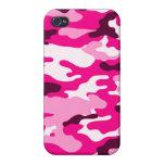 Caso listo rosado del iPhone 4 del camuflaje el   iPhone 4 Protector