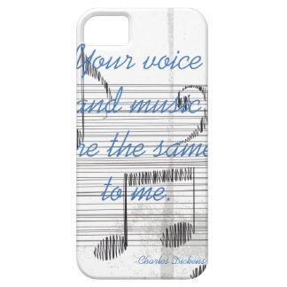Caso literario de la cita de Dickens de la voz y iPhone 5 Fundas