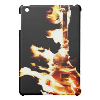 Caso llameante del iPad de la guitarra