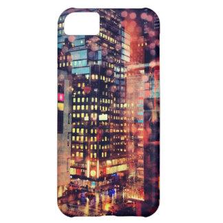 Caso lluvioso del iPhone de NYC Funda Para iPhone 5C