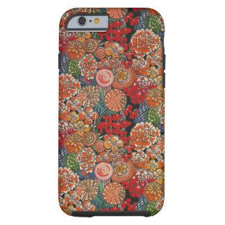 Caso loco del iPhone 6 de la flor Funda De iPhone 6 Tough