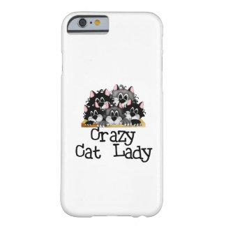 Caso loco del iPhone 6 de la señora del gato Funda De iPhone 6 Barely There