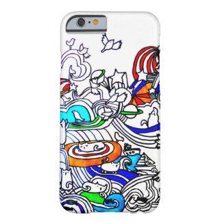 caso loco del iPhone 6 de los doodles Funda Para iPhone 6 Barely There