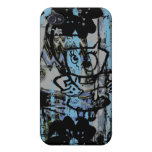 Caso loco del iphone de la pintada del grunge iPhone 4/4S carcasa