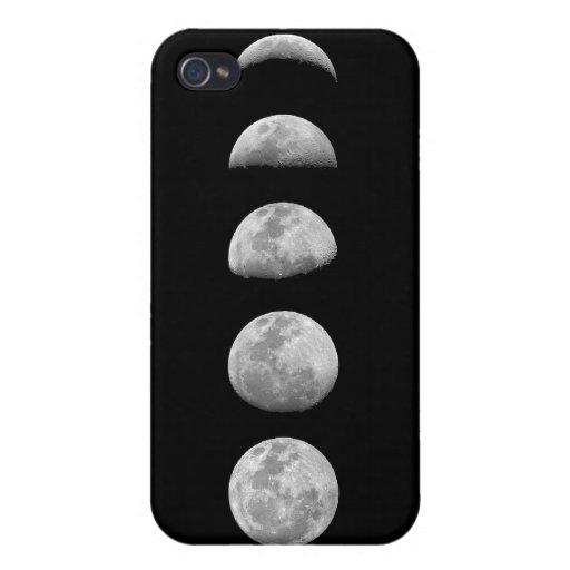 Caso lunar del iPhone de las fases iPhone 4 Carcasa