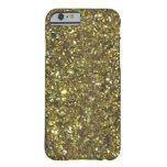 Caso magnífico del iPhone 6 del brillo del oro de