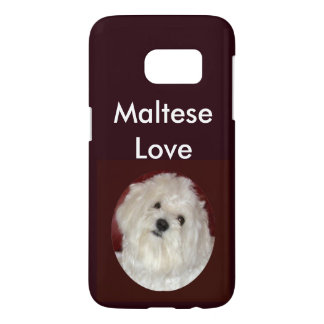 Caso maltés del iPhone del amor S7 en Borgoña/el Fundas Samsung Galaxy S7