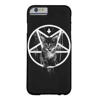 Caso malvado del gatito funda barely there iPhone 6