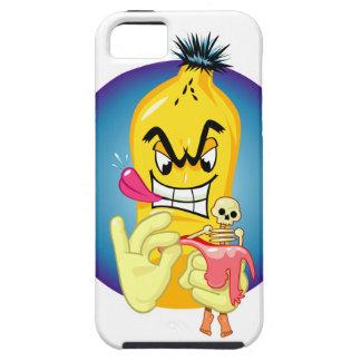 Caso malvado del iphone 5 del plátano iPhone 5 fundas