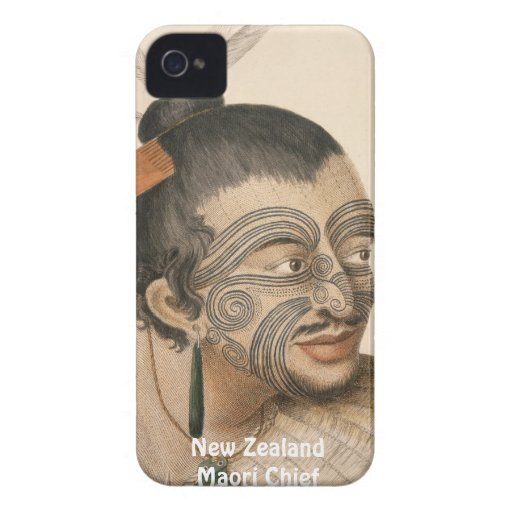 Caso maorí del iPhone 4 del arte del cacique de NZ iPhone 4 Coberturas