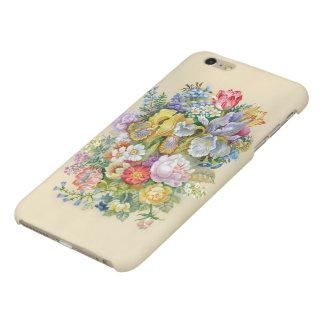 Caso más de pintura del iPhone 6 mates de la flor