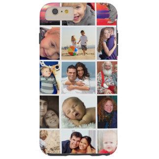 Caso más del collage de la foto de Instagram del Funda Resistente iPhone 6 Plus