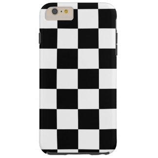 Caso más del iPhone 6 a cuadros negros y blancos