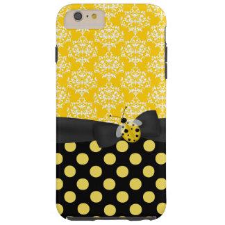 Caso más del iPhone 6 amarillos lindos de la Funda Para iPhone 6 Plus Tough