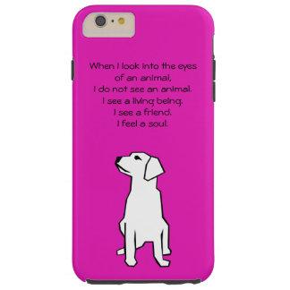 Caso más del iPhone 6 animales del amante Funda Resistente iPhone 6 Plus