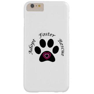 Caso más del iPhone 6 animales del rescate Funda De iPhone 6 Plus Barely There