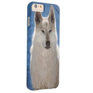 Caso más del iPhone 6 árticos del lobo Funda Barely There iPhone 6 Plus
