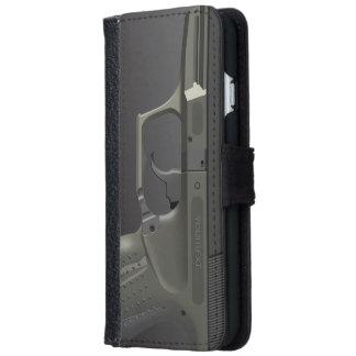 Caso más del iPhone 6 automáticos del arma de la Funda Cartera Para iPhone 6