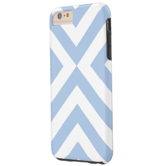 Caso más del iPhone 6 azules claros y blancos de