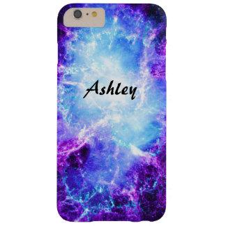Caso más del iPhone 6 azules púrpuras de encargo Funda Para iPhone 6 Plus Barely There