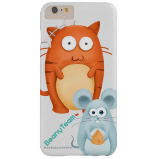 caso más del iPhone 6: BeanyTeam™ - gato y ratón Funda De iPhone 6 Plus Barely There