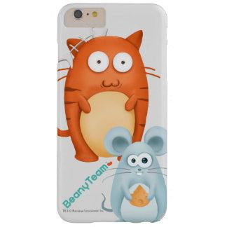 caso más del iPhone 6: BeanyTeam™ - gato y ratón Funda Barely There iPhone 6 Plus