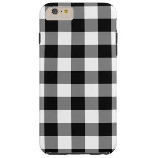 Caso más del iPhone 6 blancos y negros del modelo Funda Para iPhone 6 Plus Tough
