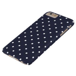 Caso más del iPhone 6 clásicos del lunar del azul Funda Barely There iPhone 6 Plus
