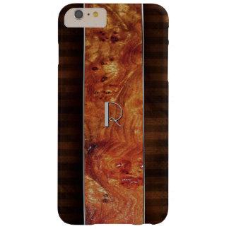 Caso más del iPhone 6 cones monograma de madera de Funda De iPhone 6 Plus Barely There