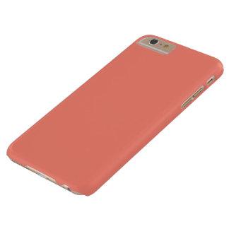 Caso más del iPhone 6 coralinos sólidos Funda Para iPhone 6 Plus Barely There