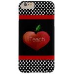 Caso más del iPhone 6 de Apple del profesor rojo Funda De iPhone 6 Plus Barely There