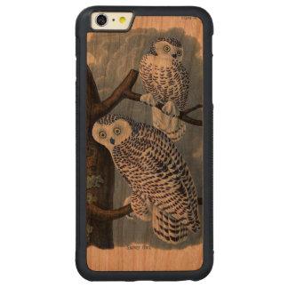 Caso más del iPhone 6 de madera del búho Nevado Funda Para iPhone 6 Plus De Carved® De Cerezo