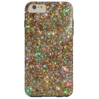 CASO MÁS del iPHONE 6 de plata de la joya del Funda De iPhone 6 Plus Tough