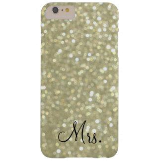Caso más del iPhone 6 de señora Glittery Gold Funda De iPhone 6 Plus Barely There