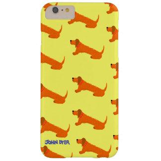 Caso más del iPhone 6 del arte: Perro de salchicha Funda De iPhone 6 Plus Barely There