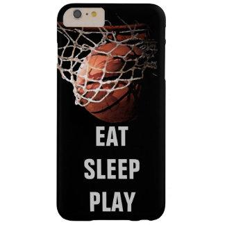 Caso más del iPhone 6 del baloncesto de Eat Sleep Funda De iPhone 6 Plus Barely There
