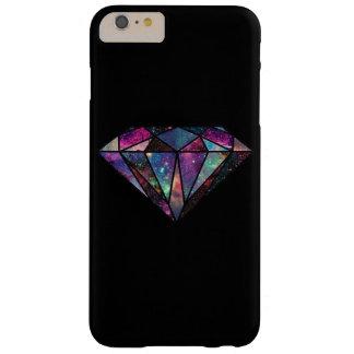 Caso más del iPhone 6 del diamante de la galaxia Funda Para iPhone 6 Plus Barely There