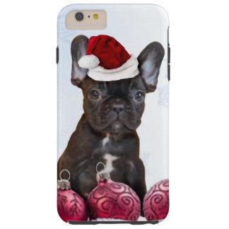 Caso más del iPhone 6 del dogo francés del navidad Funda Resistente iPhone 6 Plus