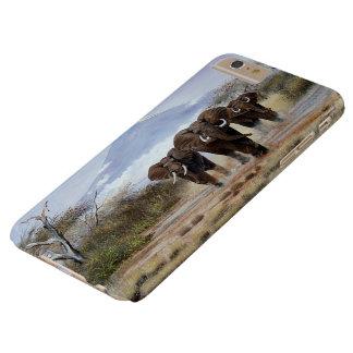caso más del iPhone 6 del elefante de Kilimanjaro Funda Barely There iPhone 6 Plus