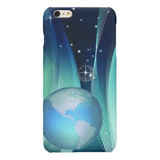 Caso más del iPhone 6 del espacio de la tierra