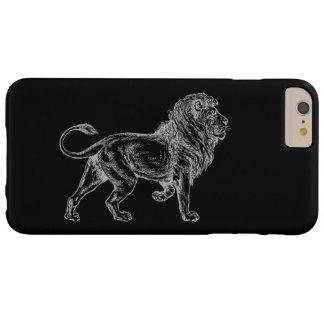 Caso más del iPhone 6 del león Funda De iPhone 6 Plus Barely There