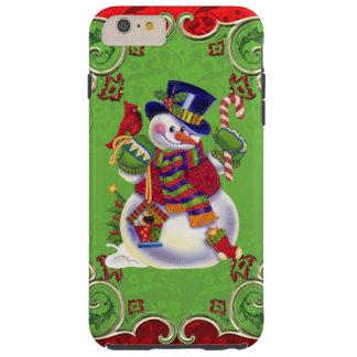 Caso más del iPhone 6 del muñeco de nieve apenas Funda Resistente iPhone 6 Plus