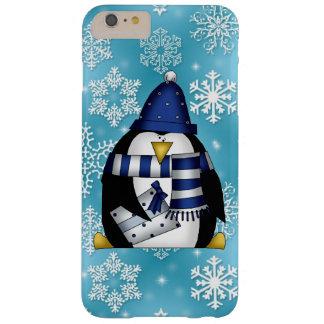 Caso más del iPhone 6 del pingüino del navidad Funda Barely There iPhone 6 Plus