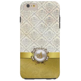 Caso más del iPhone 6 dorados y poner crema Funda Resistente iPhone 6 Plus