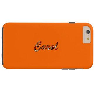 Caso más del iPhone 6 duros anaranjados del estilo Funda De iPhone 6 Plus Tough
