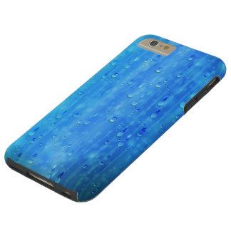 Caso más del iPhone 6 duros azules mojados Funda Resistente iPhone 6 Plus
