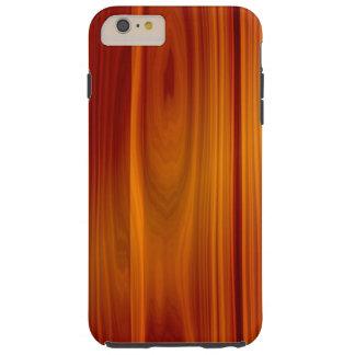 Caso más del iPhone 6 duros de madera de la teca Funda Para iPhone 6 Plus Tough