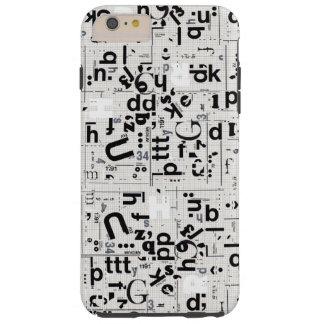 Caso más del iPhone 6 duros del arte de la letra Funda De iPhone 6 Plus Tough