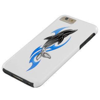 Caso más del iPhone 6 duros tribales del delfín Funda Para iPhone 6 Plus Tough