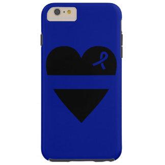 Caso más del iPhone 6 finos del corazón de Blue Funda Resistente iPhone 6 Plus